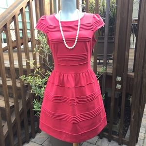 Elle Red Fit and Flare Size 4 Dress
